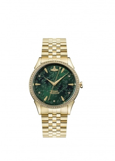 Vivienne Westwood Accessories The Wallace Watch - Gold / Green
