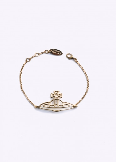 Vivienne Westwood Accessories Thin Flat Orb Bracelet - Yellow