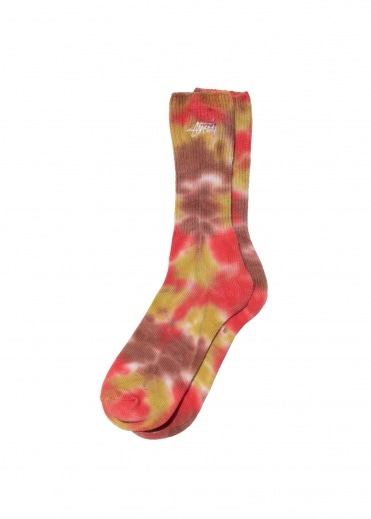 Stussy Tie Dye Socks - Orange