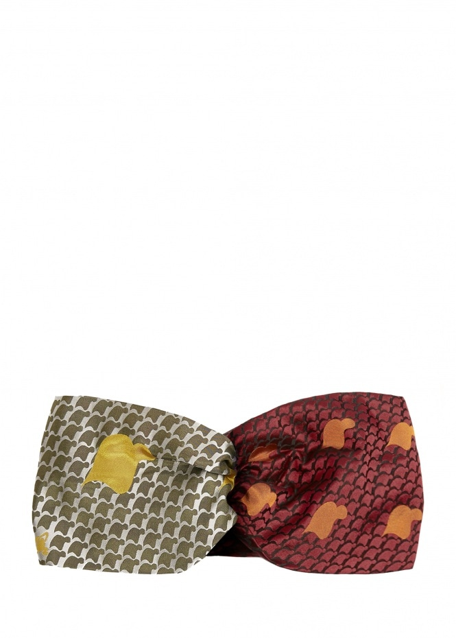 Tie Head Band - Red / Green