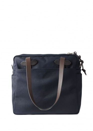 Filson Tote Bag With Zipper - Navy