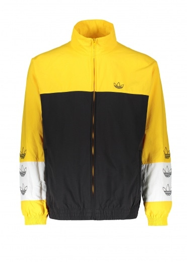 Adidas Originals Apparel Tourney Warm Up Jacket - Black / Yellow