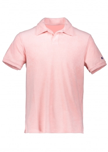 Champion Towelling Polo - Pink