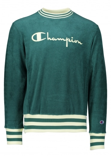 Champion Towelling Sweater - Green