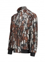 Tree Bark Fleece Jacket - Brown