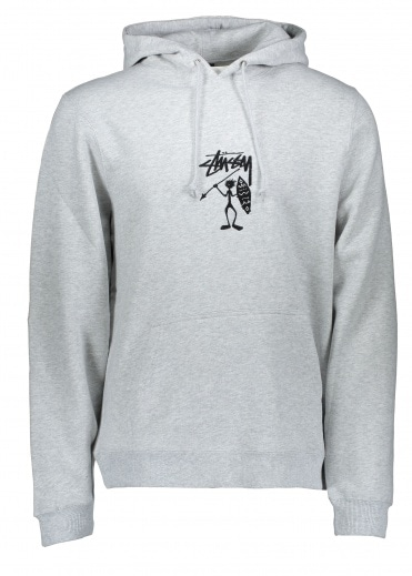 Stussy Tribe Man Applique Hood - Grey Heather