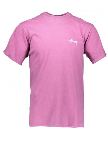 Stussy Tribeman Pig. Dyed Tee - Orchid