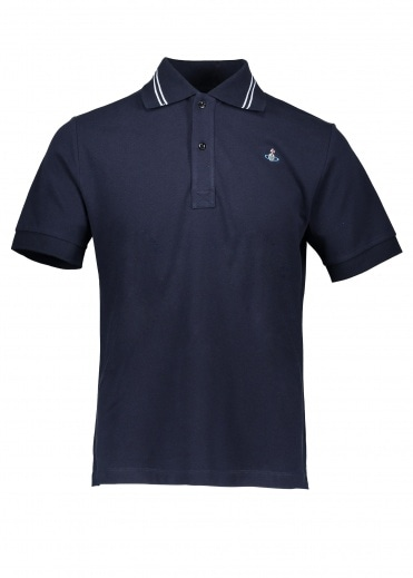 Vivienne Westwood Mens Trim Polo - Dark Blue