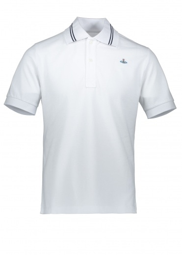 Vivienne Westwood Mens Trim Polo - White
