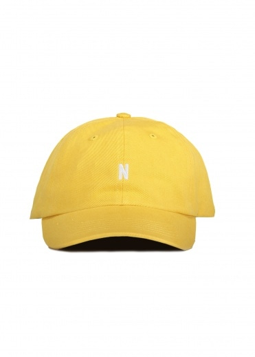 Norse Projects Twill Sports Cap Sunwashed - Yellow