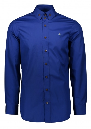 Vivienne Westwood Mens Two Button Krall Shirt - Royal Blue