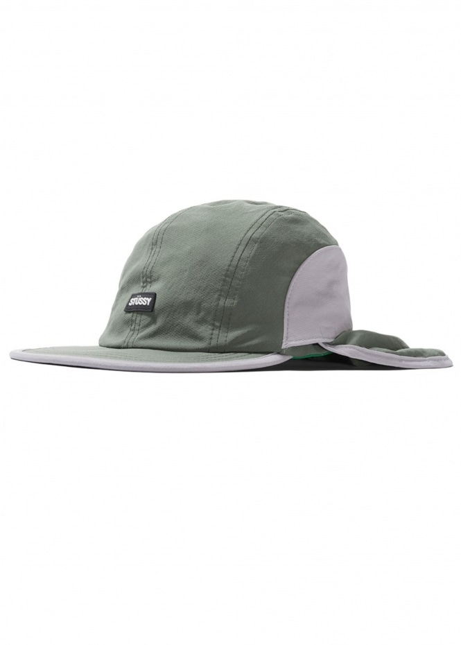 Two Tone Bungee Camp Cap - Green