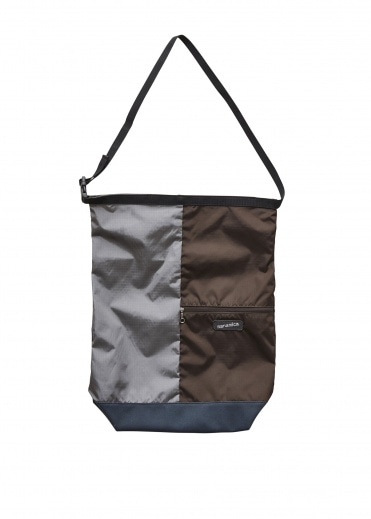Nanamica Utility Shoulder Bag - Grey / Brown
