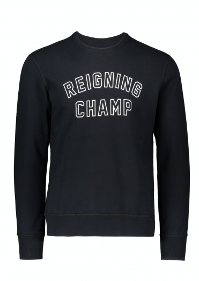 Reigning Champ Varsity Crew Neck Black/White