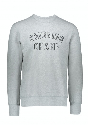 Reigning Champ Varsity Crew Neck - Grey/Black