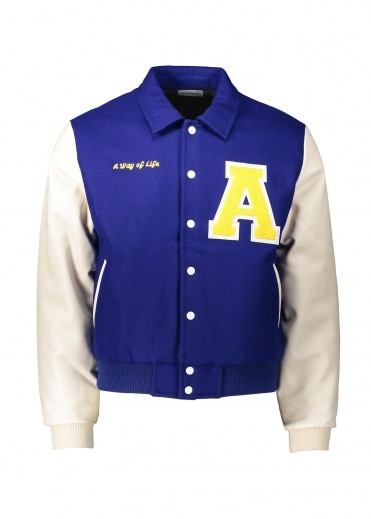 Alife Varsity Jacket - Blue / Cream