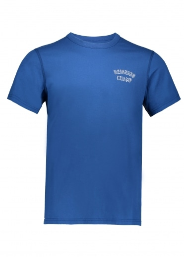 Reigning Champ Varsity T-Shirt Court - Blue/White