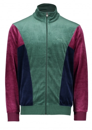 Stussy Velour Paneled Track Jacket - Green