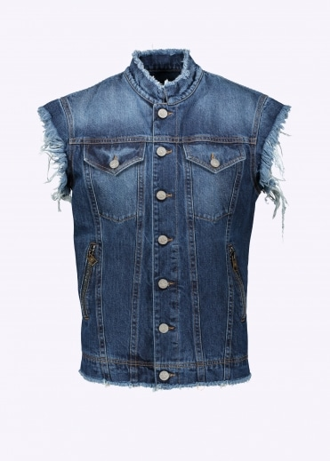 Vivienne Westwood Anglomania Vest Jacket - Blue Denim