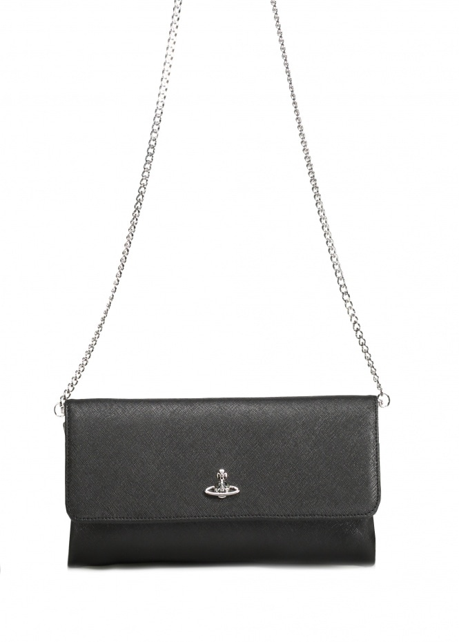 Victoria Clutch With Flap - Black