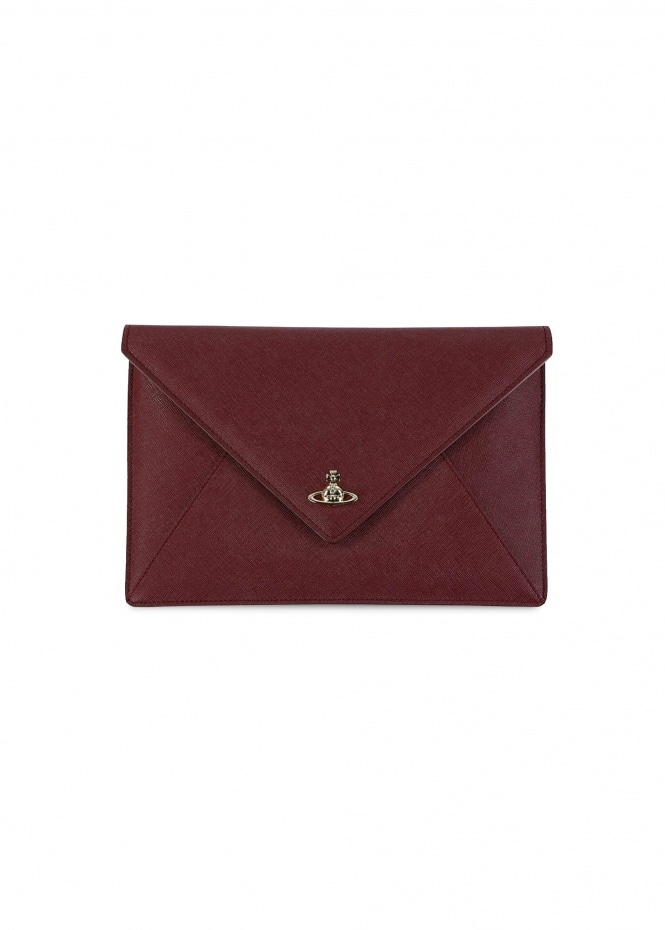 Victoria Envelope Clutch - Burgundy