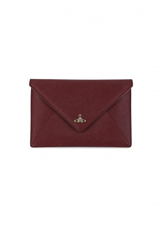 Vivienne Westwood Accessories Victoria Envelope Clutch - Burgundy