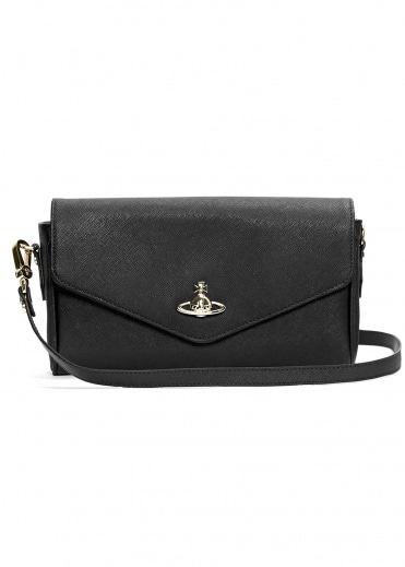 Vivienne Westwood Accessories Victoria Large Crossbody Bag - Black