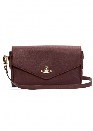 Vivienne Westwood Accessories Victoria Large Crossbody - Burgundy
