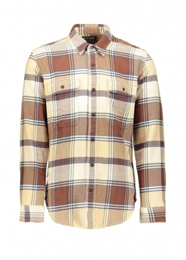Filson Vintage Flannel Work-shirt - Beige / Navy / Brown
