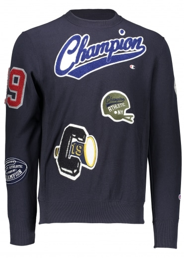 Champion Vintage Patch Sweat - Navy