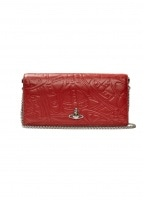 Alex Long Wallet with Chain - Red