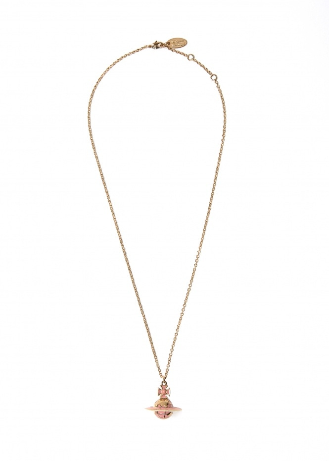 Galileo Small Orb Pendant - Pale Pink