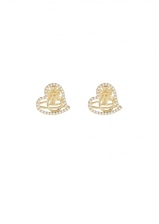 Giuseppa Stud Earrings - Gold