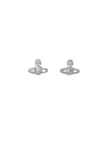 Vivienne Westwood Accessories Grace BR Stud Earrings - Rhodium