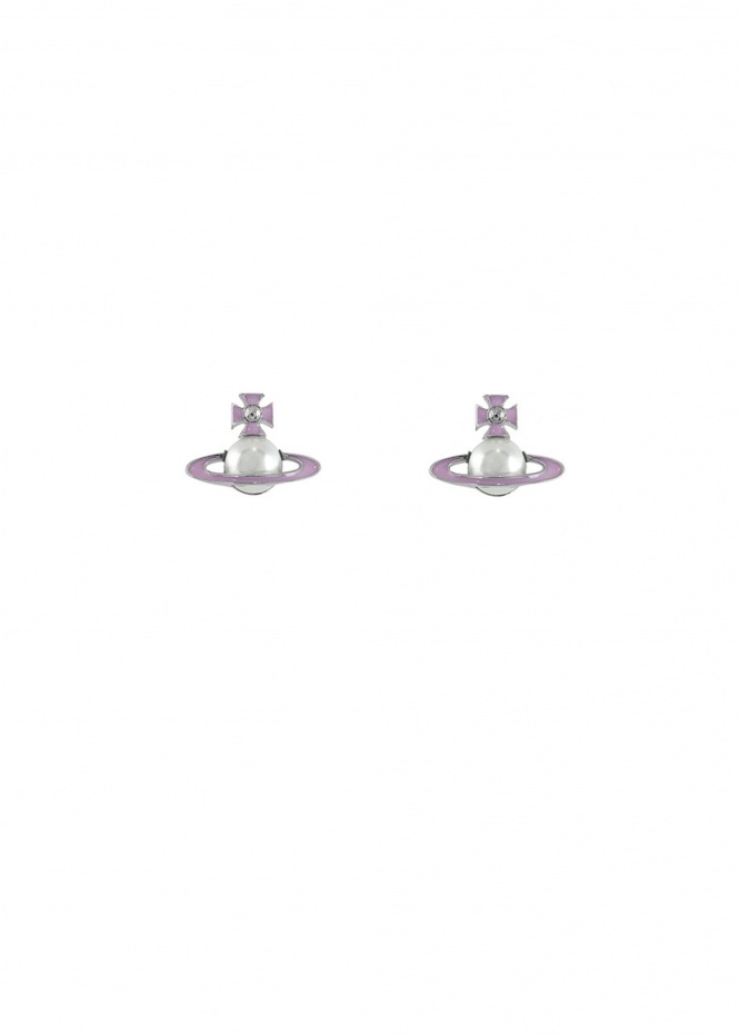 Iris Bas Relief Earrings - Pearl