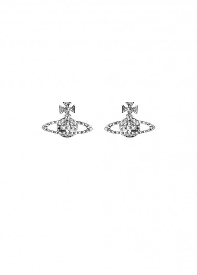 Mayfair Bas Relief Earrings - Rhodium