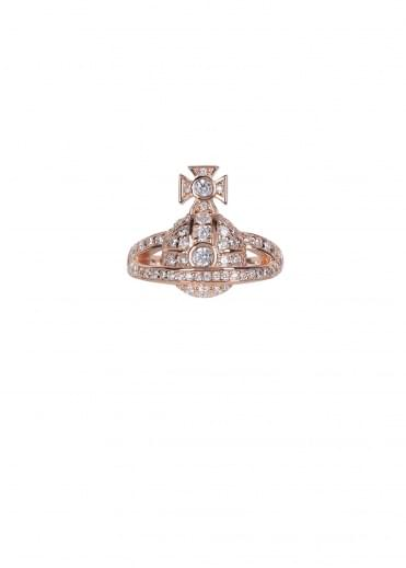 Vivienne Westwood Accessories Mini Orb Ring - Pink Gold