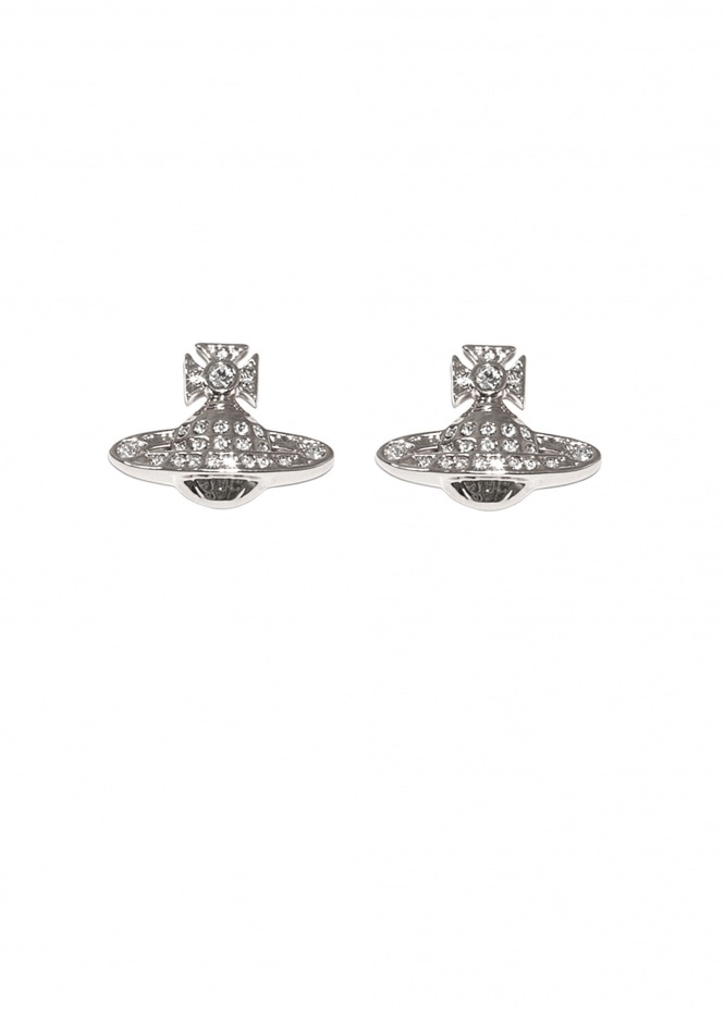 Minnie Bas Relief Earrings - Rhodium