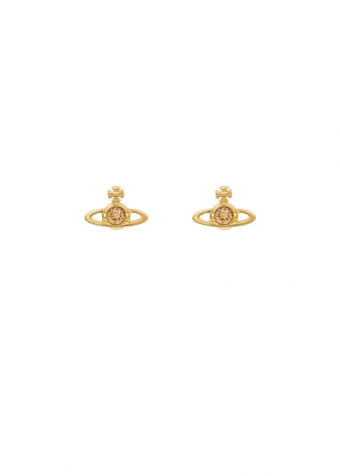 Nano Solitaire Earrings - Gold