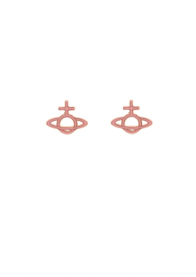 Ornella Bas Relief Earrings - Pink