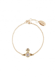 Ouroboros Small Bracelet - Gold / White