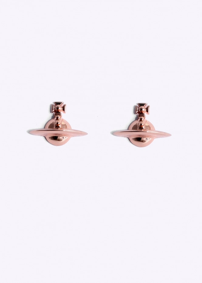 Solid Orb Earrings - Pink Gold
