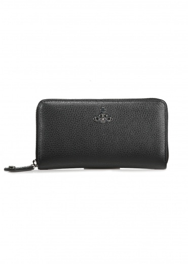 Vivienne Westwood Accessories Zip Round Wallet - Black