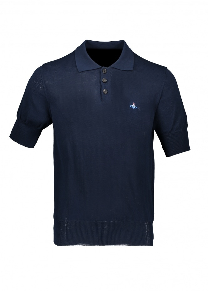 Knit Polo - Navy