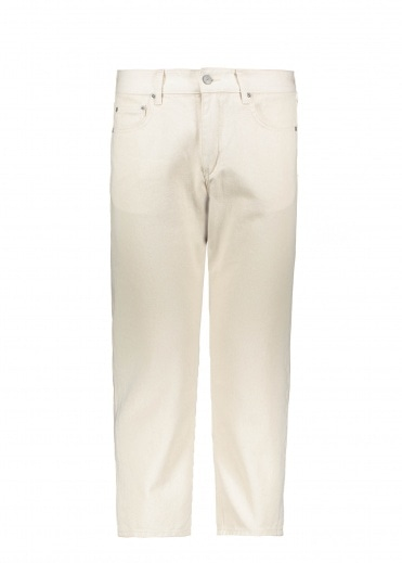 Uniform Bridge Washing Crop Denim Pant - Natural