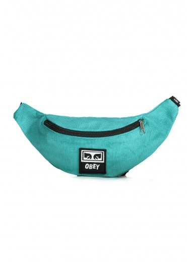 Obey Wasted Zip Bag Teal - Cord