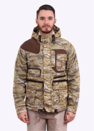 Barbour Wave Mountain Parka - Stone Wave Print