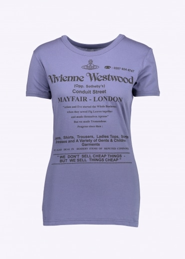 Vivienne Westwood Anglomania We Don't Sell Cheap Things Tee - Blue