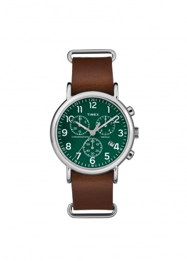 Timex Weekender Chrono - Brown / Green
