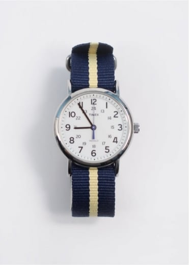 Timex Weekender Full Size Watch - Yellow/Blue